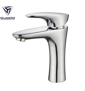 Modern Brass Single Hole Bathroom Faucet Chrome One Hole