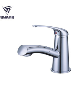 OUBAO Chrome Single Lever Bathroom Hand Wash Basin Sink Faucet