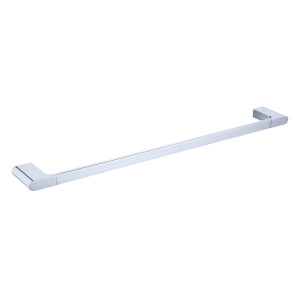 OUBAO Single Chrome Bathroom Shelves Wall Shelf With Towel Bar