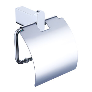 OUBAO Chrome Wall Towel Holder Bathroom Chrome Tissue Bar
