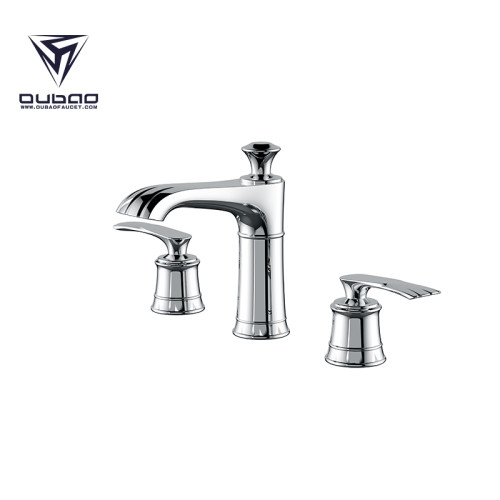 Chrome Polished Vintage Widespread Vanity Faucet 3 Piece 3 Hole