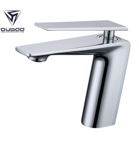 OUBAO Brass Low Arc Bathroom Faucet Modern Chrome Polished for Porject Source