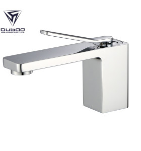 Modern Copper Bathroom Sink Faucet Single Hole Chrome