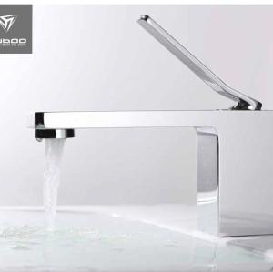 Modern Copper Bathroom Sink Faucet Single Hole Chrome