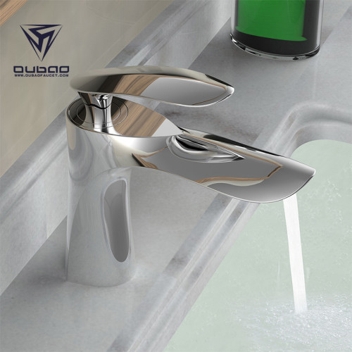 OUBAO Most Popular Single Handle Bathroom Vessel Sink Faucet