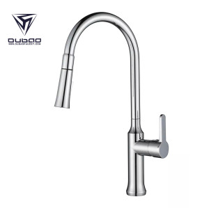 OUBAO Top Rated Modern Pull Down Kitchen Sink Faucet