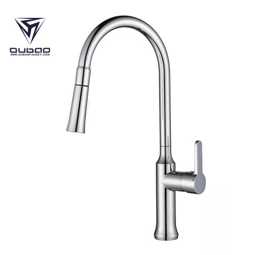 OUBAO Kitchen Sink Faucet Top Rated Modern Pull Down