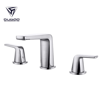 Modern 3 Piece 8 Inch Widespread Bathroom Faucet
