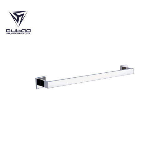 OUBAO Stand Alone Door Mounted Chrome Bath Towel Rack