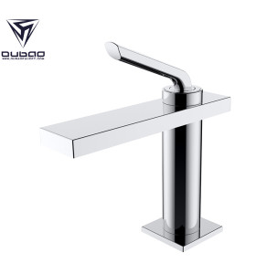 OUBAO Brass Basin Mixer Taps Single Lever Lavatory Faucets