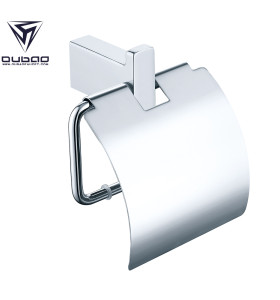 Oubao Chrome Bathroom Hand Towel Holder Tissue Paper Roll Holder