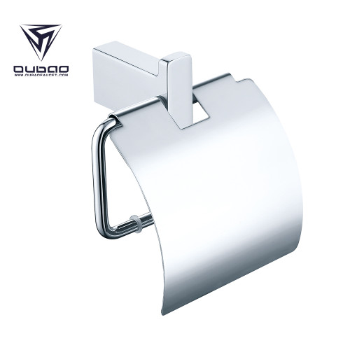 Oubao Chrome Bathroom Hand Towel Holder Tissue Paper Roll Holder