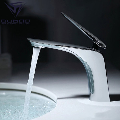 OUBAO Wash Basin Mixture Tap Chrome Modern Brass
