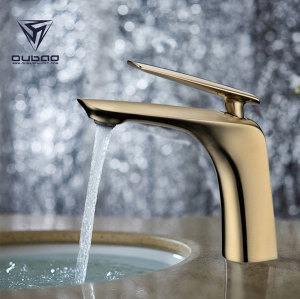OUBAO Gold Color Plated Bathroom Faucets for Wholesale