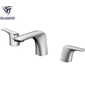 OUBAO 2 Hole Bathroom Basin Mixer Taps Wholesale faucets