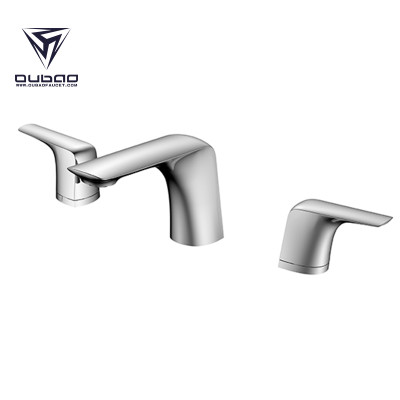 OUBAO Wholesale faucets Two Hole Bathroom Basin Mixer Taps