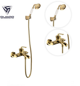 OUBAO Modern One Handle Bathtub Faucet With Handheld Shower Diverter