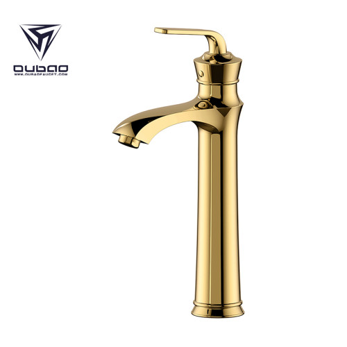 OUBAO Bathroom Sink Faucet Commercial Single Hole Tall Body