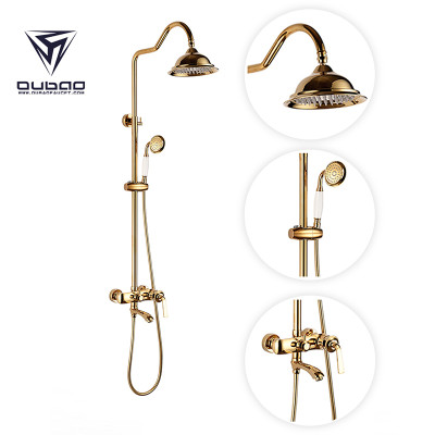 OUBAO Modern Shower Faucet Set With Handheld Sprayer