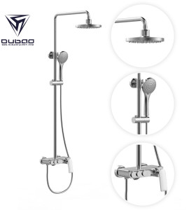 OUBAO New Rainfall Upc Shower Faucet Head System With Handheld