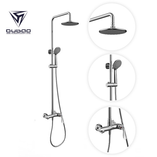 OUBAO Discount Shower Faucets System Mixet Surface Mount Rubber Rainfall