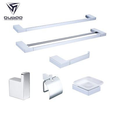 OUBAO Best Decor Bathroom Accessories Sets Modern Chrome