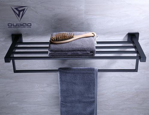 OUBAO Towel Bars Bathroom Hardware Set - 3 Pieces Stainless Steel Bathroom Holders Wall Mounted