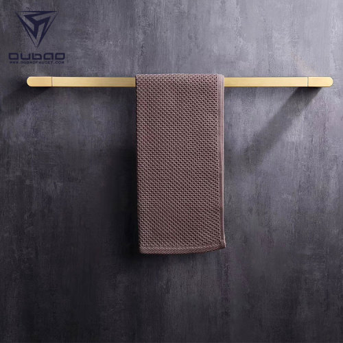 OUBAO Brushed Gold Bathroom Accessories Luxury Funky Style