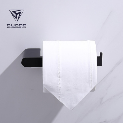 OUBAO Matte Black Bathroom Accessories for Toile Bath Wall Mounted