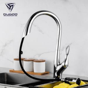 OUBAO Automatic Motion Sensor Kitchen Faucet Single Handle