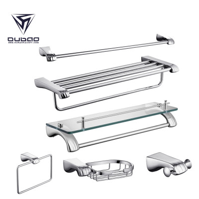 OUBAO Brass Bathroom Accessories Sets Luxury Chrome Full Complete