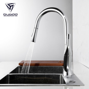 OUBAO Flow Motion Sensor Kitchen Faucet With Pull Down Sprayer