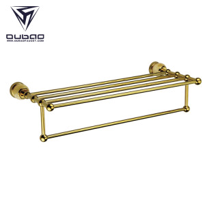 OUBAO Brass Bathroom Hardware Ornaments Bilng Gold Modern Wall Decor