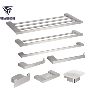 OUBAO Satin Brushed Nickel Bathroom Accessories Stainless Steel Home Goods