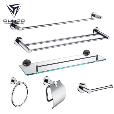 OUBAO Bathroom Accessories Amazon Hot Sell Bath Accessories Chrome Polished