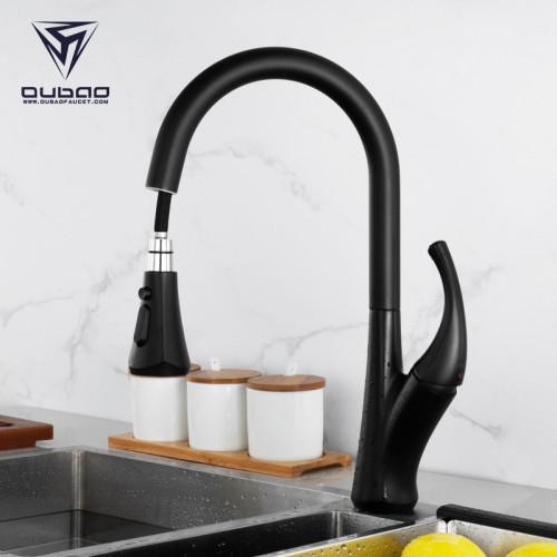 OUBAO Smart Touch Kitchen Sink Faucet Matte Black