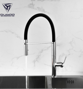 OUBAO Commercial Hot and Cold Kitchen Faucet with Pull Down Sprayer