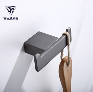 OUBAO Modern Wall Mounted Gun Black Bathroom Accessories