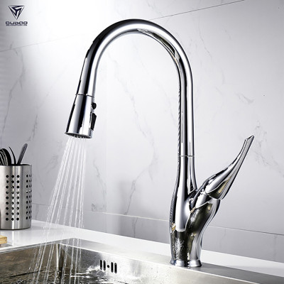 OUBAO Sanitary Wares Kitchen Faucet For Sink, One Handle,Pull Down