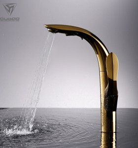 OUBAO Golden Kitchen Sink Tap for New Sanitary Wares