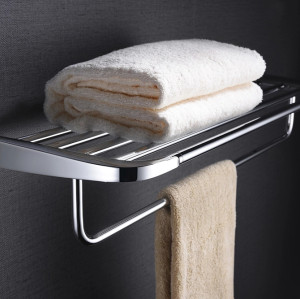 OUBAO 6-Piece Bathroom Hardware Accessory Set Wall Mounted Towel Holder Bar