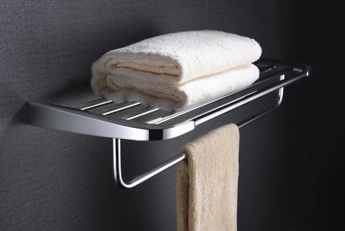 OUBAO 6-Piece Bathroom Hardware Accessories Set Wall Mounted Towel Holder Bar