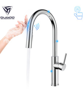 OUBAO Touch Sensor Kitchen Faucet Automatic Single Handle