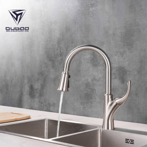 OUBAO 3 Way Water Filter Kitchen Faucet With Pull Down Sprayer New Design All IN ONE