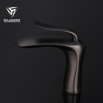 OUBAO Bathroom Basin Mixer Tap Gunmetal Black