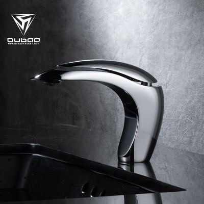 OUBAO Design Single Lever Chrome Brass Bathroom Faucet