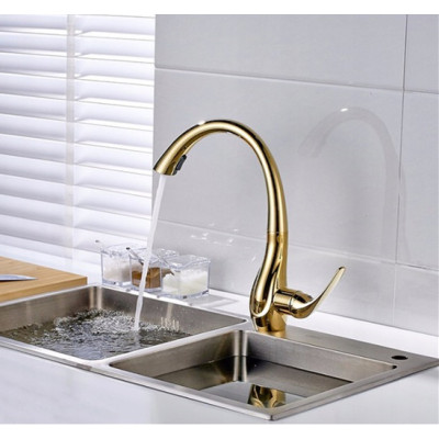 OUBAO pull down kitchen sink faucet Brushed Nickle Goose neck