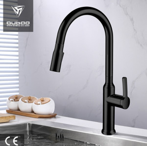 Polished Chrome Vintage Kitchen Tap Faucet with Pull Down Sprayer