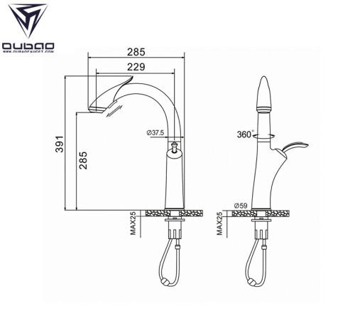OUBAO Touch Sensor Kitchen Faucet Gunmetal Black