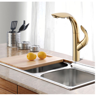 OUBAO Gold Kitchen Tap Faucet with Sprayer Online